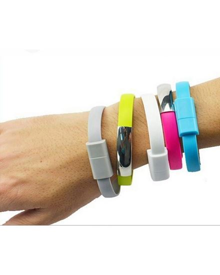 Picture of As Seen on TV Micro USB to USB Cable Bracelet Charge/Sync Cable for Smart Phones and Tablets