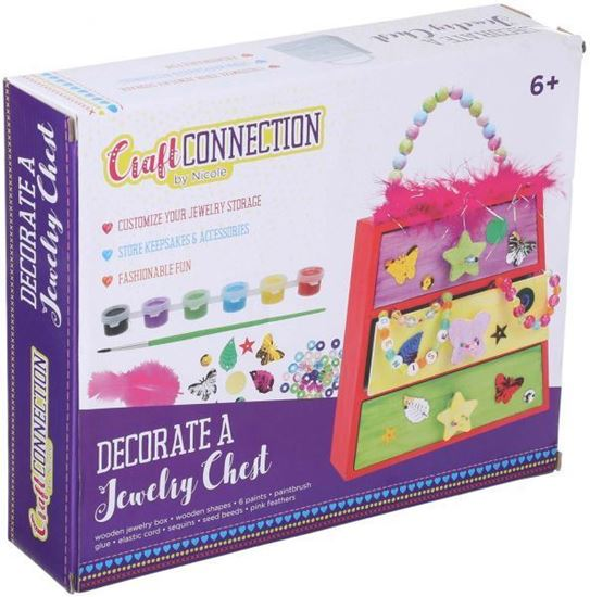Picture of Craft Connection Decorate a Jewelry Chest for Girls - Multi Color