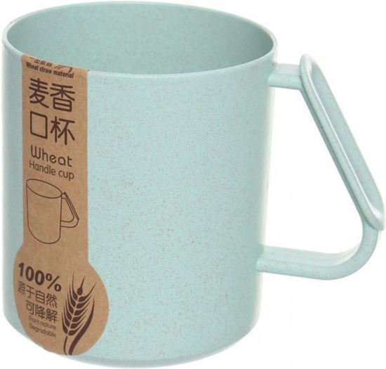 Picture of Wheat Handle Tea Cup - Light Green