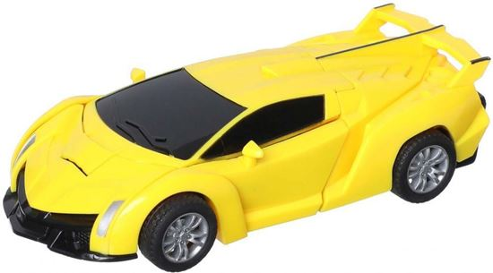 Picture of Transformer Car Toy for Kids, Yellow