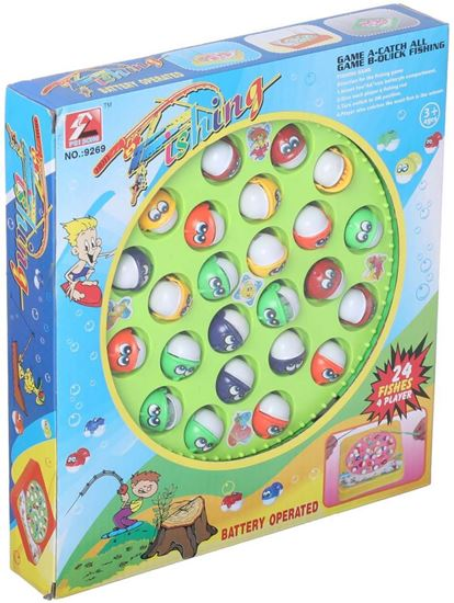 Picture of Fishing Toy for Kids, 24 Fishes