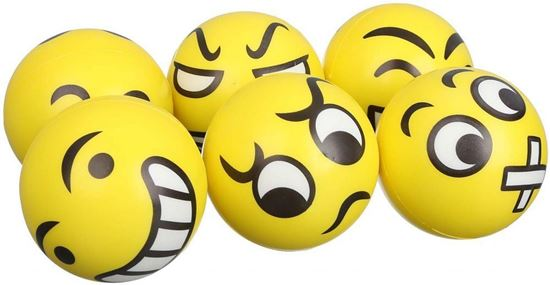 Picture of Smiley Faces Balls for Kids  Set of 6  Yellow