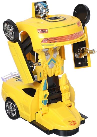 Picture of Transform Robort Car Toy for Kids, Yellow