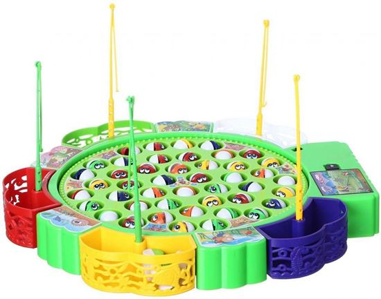 Picture of Keess Fishing Game for Kids, 45 Fish, 5 Players - Multi Color
