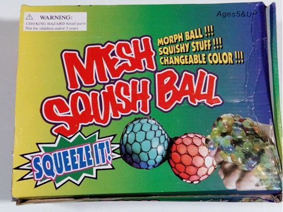 Picture of Squishy Mesh Slime Balls Multi Color New Design (Pack of 12)