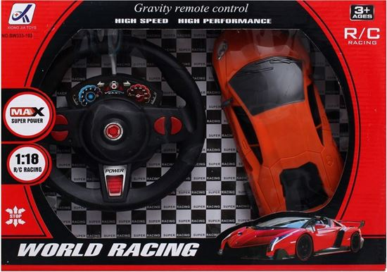 Picture of World Racing BW333-193 with Remote Control for Boys, Orange