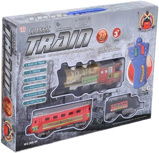 Picture of Classic Train Toy with Remote Control for Kids, 30 Pieces