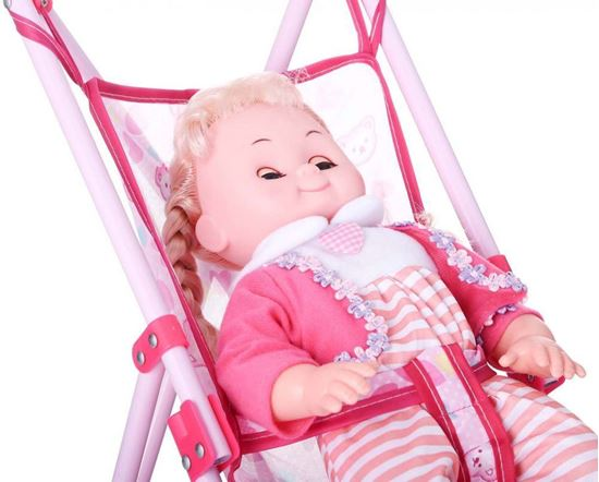 Picture of Baby Doll with Stroller for Girls, Pink