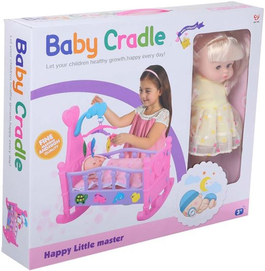 Picture of Baby Cradle Toy for Girls, Multi Color