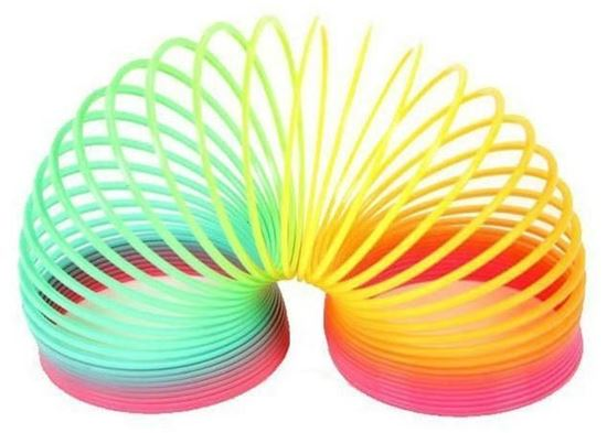 Picture of 12 Pcs Rainbow Springs Star Heart Circle Flower Shape Slinky Toy Kids Adult Activity Amusement Toys