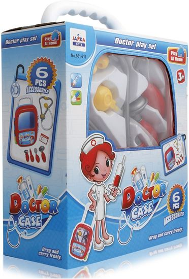 Picture of Jawda Toys Doctor Case Set With Pull Along Trolley