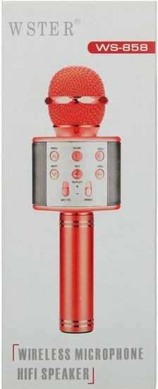 Picture of Wster Wireless Microphone Hi Fi Speaker For Unisex, Multi Color