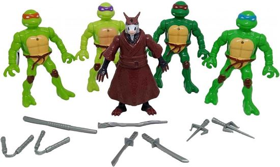 Picture of Teenage Mutant Ninja Turtles with Teacher and Weapons Set