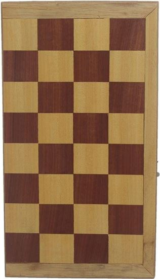 Picture of Chess and table made of colored wood 50 cm in 50 cm in thickness 9 cm