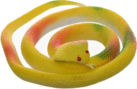 Picture of Rubber Snake For Kids , Yellow
