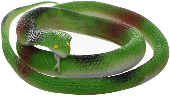 Picture of Rubber Snake For Kids , Green