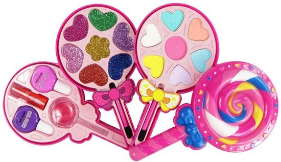 Picture of Kid Makeup Box Set Toys Lollipop Dressing Cosmetics Girls Toy Plastic Safety Beauty Pretend Play Children Makeup Girl Game Gift