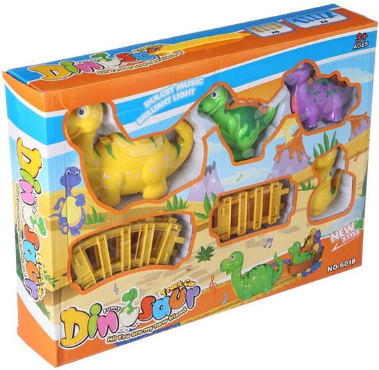 Picture of Funny Dinosaur Track Car for Kids