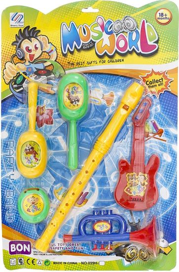 Picture of Music World Small Music Instruments Toy for Kids, Multi Color